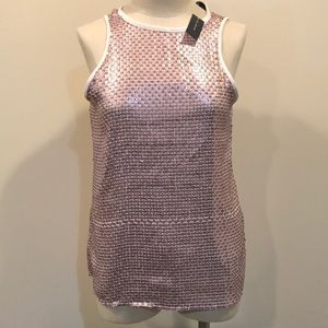 The Limited Pink Sparkle Tank Top. NWT!